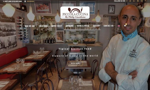 New website for Piccola Cucina Group by Philip Guardione