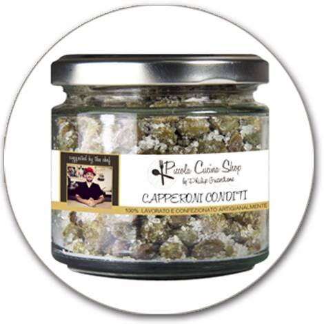 Capers in coarse sea salt 170 GR