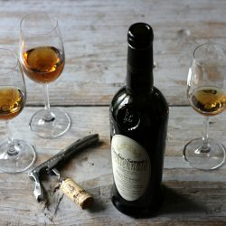 Marsala wine bottle glasses