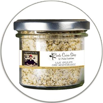 Mediterranean herbs flavoured sea salt - Sale alle erbe mediterranee